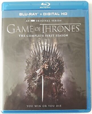 Game Of Thrones: The Complete First Season Blu Ray 5 Disc Set Free Shipping