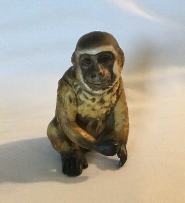 """Savannah Monkey"" Male Monkey Figurine UCTCI Made in Japan Porcelain (Rare)"