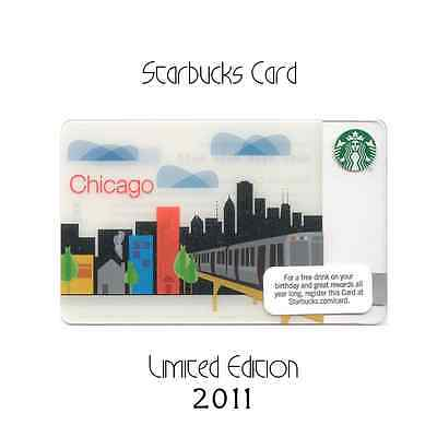 STARBUCKS 2011 Gift Card Chicago Skyline RARE No Value Unswiped Mint