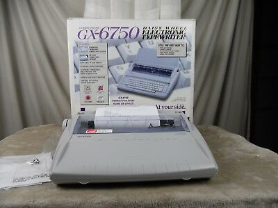 Brother GSX-6750 Electric Typewriter New in Box.