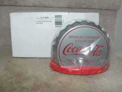 Coca Cola Coke Sunbelt Ko Crown Wooden Cap Napkin Holder Nip Nib Never Used!!!!