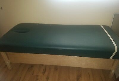 Physical therapy bed.