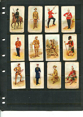 Cigarette Cards Vice Regal 'commonwealth Military Forces X 12 Cards Lot 121