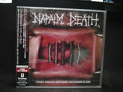 NAPALM DEATH Coded Smears And More Uncommon Slurs JAPAN 2CD Carcass Righteous Pi