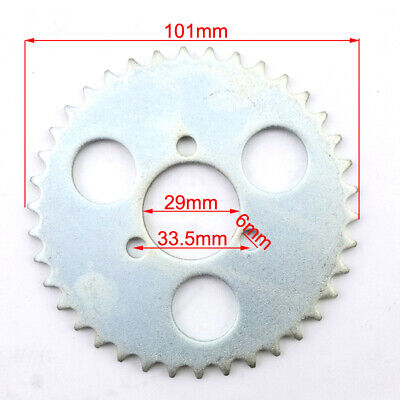 T8F 38T Tooth 29mm Rear Chain Sprocket Silver For 43cc 49cc Minimoto Moped