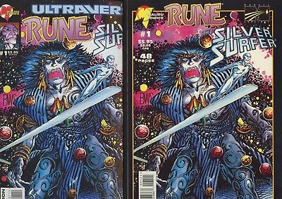Silver Surfer Rune Both Covers VF/NM