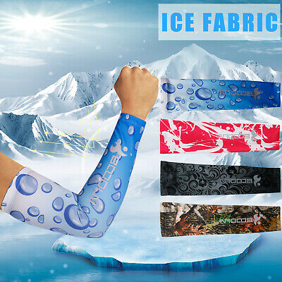 1 Pair Cooling Arm Sleeves Cover UV Sun Protection Outdoor Sports Basketball US