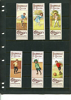 Cadbury Nostalgia Bournville Cocoa  2001 Sport Series Complete Set Of 6 Cards