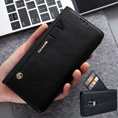 Luxury Leather Flip Wallet Card Slot Case Cover For Samsung Galaxy S9 S8 Plus S7