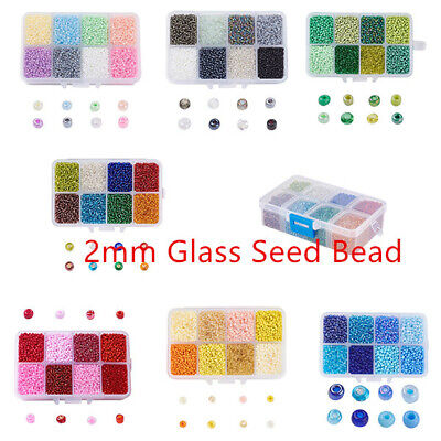 12500pcs/Box Opaque Glass Seed Bead Round  Loose Spacer Beads 12/0-2mm
