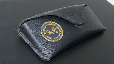 Rare '90s B&L Cowhide leather case for the Ray-Ban Precious Serie size 58 med.