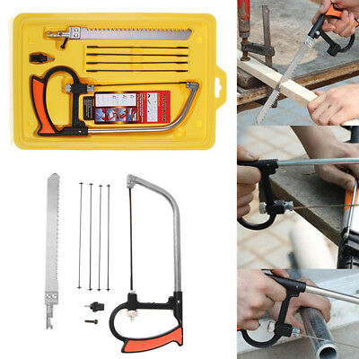 8 in1 Multi-function Hand Hacksaw Kit DIY Homemade Small Woodworking Saw Set