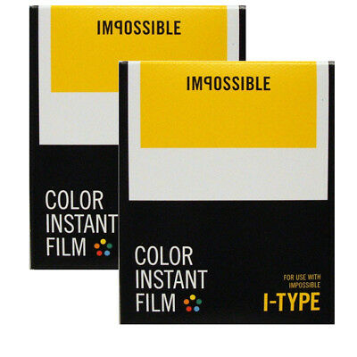 TWO IMPOSSIBLE I-Type COLOUR Films - for i-type Camera/ Lab DATED 03/2017