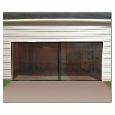 Double Garage Door Screen Magnetic Closure Mosquito Net Insects Bugs Mesh Air