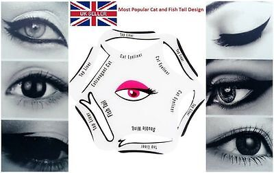 6 in 1Eyeliner Stencil Set Quick Makeup Guide Perfect Smokey Cat Eyeshadow Tool!