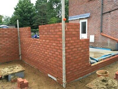 Aluminium Brick laying building profile 2 x 2m & 4 Heavy duty clamps NOT MUSTANG
