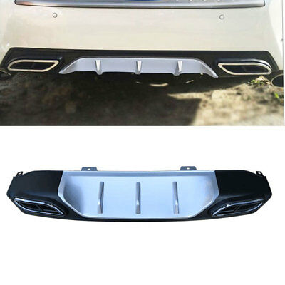 Rear Bumper Diffuser with Dual Exhaust Tip Decorative For Honda Civic 2016-2018