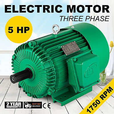 NEW 5 HP 184T Frame Weg Electric Motor For Air Compressor 1750 Rpm ...