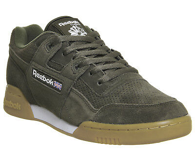 Womens Reebok Green Suede Lace Up Trainers UK Size 7 *Ex Display