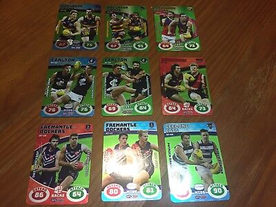 Battle Teams Pick Your Card Teamcoach 2018 AFL Cards Pick Your Player