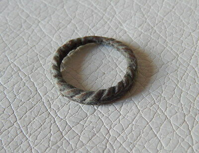 Ancient Bronze Falsely Twisted Ring. Kievan Rus.