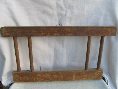 Old Antique Primitive Wooden Wall Hanging Mirror Frame