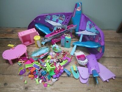 Job Lot Bundle Polly Pocket Spares Repairs Accessories Plane Furniture P219