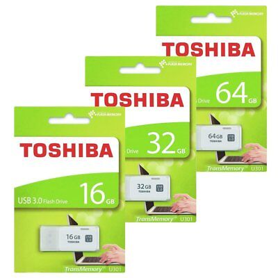 Toshiba 16GB 32GB 64GB U301 USB 3.0 Stick Flash Drive Speicherstick Weiß MAY