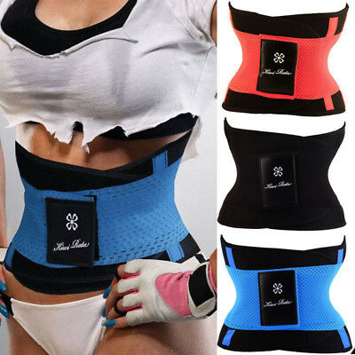 US Xtreme Power Belt Hot Slimming Thermo Body Shaper Waist Trainer Sports Girdle