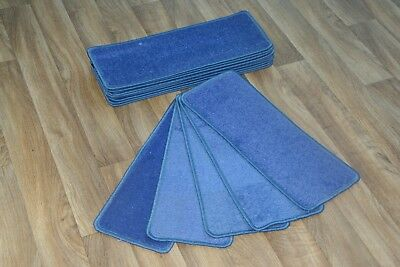 14 Stair Case Treads Quality Duck Blue Pads! 14 Large Stair Pads!