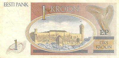 Estonia  1  Kroon  1992  Series AC  Circulated Banknote E618W