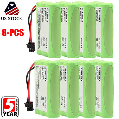 8 Pack 3*AAA 900mAh For Uniden BT909 BT-909 BT1001 BT-1001 Battery 3.6V NI-MH US