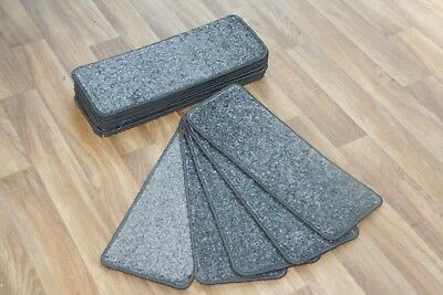 14 Open Plan Carpet Stair Treads Quality Wagner 256 Pads! 14 Large Pads!