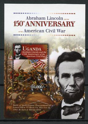 Uganda 2012 MNH Abraham Lincoln American Civil War 1v S/S US Presidents Stamps