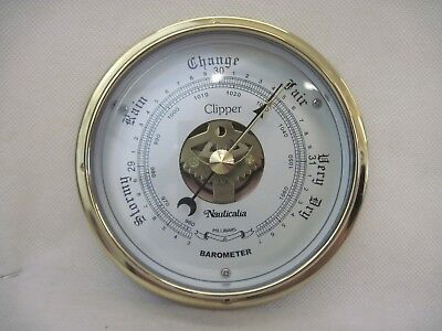 Nauticalia Brass Barometer - Clipper with Instructions
