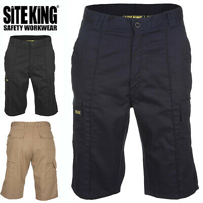 Mens Original Cargo Combat Work Shorts By SITE KING Size 28 to 52 - GENUINE 006