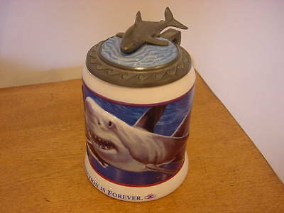 '94 VTNG LIMITED ED. Great White Shark Anheuser Busch Beer Stein Deep Sea