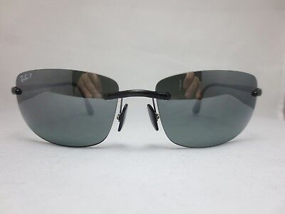 ece0107c2b6 RAY BAN RB 4254 601 5L POLARIZED Rimless Sunglasses ITALY -  79.99 ...