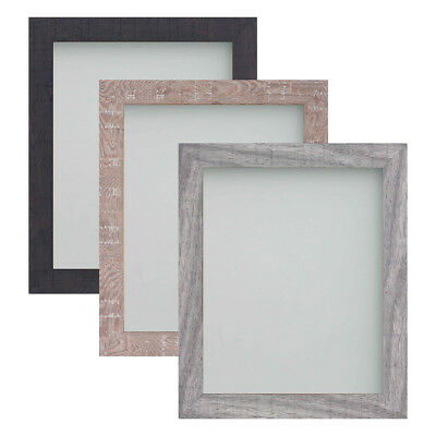 Frame Company Blackmore Range Rustic Texture Brown Grey Picture Photo Frame