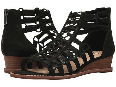 Vince Camuto Women's Richetta Black 8.5 M NEW IN BOX Wedge Sandal