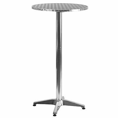 Flip Top Poseur Cocktail Table Stainless Steel 60mx105cm High