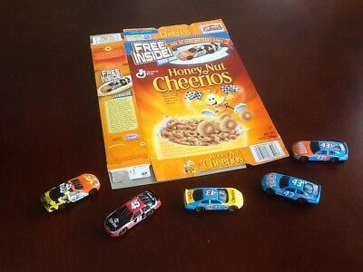 General Mills nascar collectibles with box.