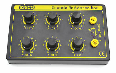 Eisco Labs 6 Decade Resistance Box, Variable from 0-1,111,110 Ohms