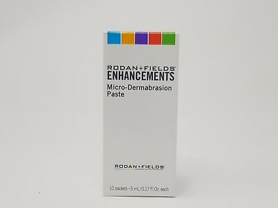 Rodan and Fields Enhancements Micro-Dermabrasion Paste 10 Packets 5 ml each New