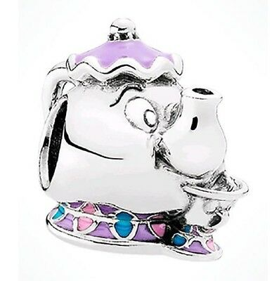 New Authentic Disney Pandora Bead Mrs Potts Chip Beauty And The Beast 79214FMX