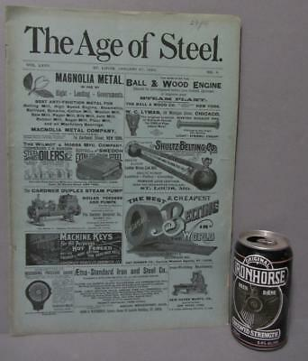 1894  The Age of Steel Magazine ~  Improved Electric Car-Lighting System