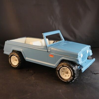 Vintage Tonka Pressed Steel Blue Jeep Jeepster Runabout 1960s. Good Paint.