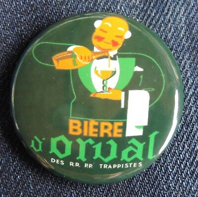 Pin Button Badge Ø38mm  ORVAL (bière) 2