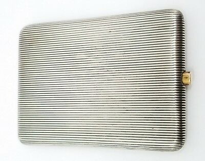 Antique Tiffany and Company London Sterling Silver Cigarette Case 1885 Signed