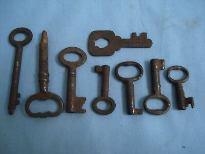 Vintage Antique Eight Rusty Key.For old furniture?..up-cycle/art work/steampunk